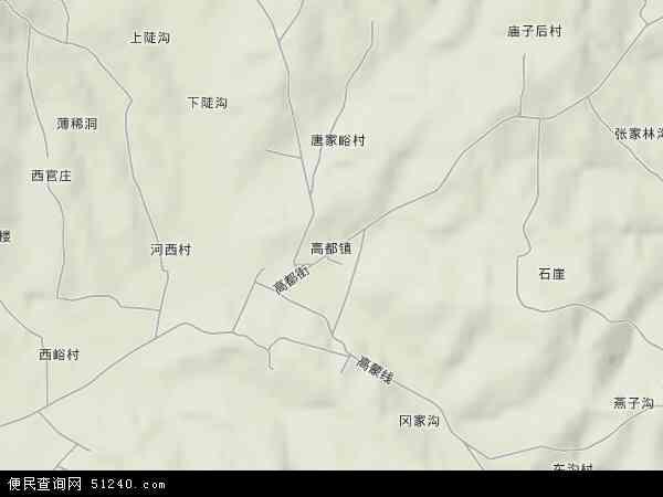 中国山东省临沂市蒙阴县高都镇地图(卫星地图)
