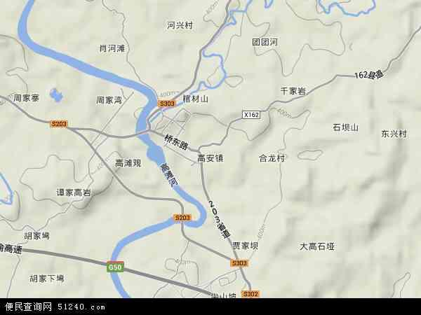 高安镇地图 - 高安镇卫星地图
