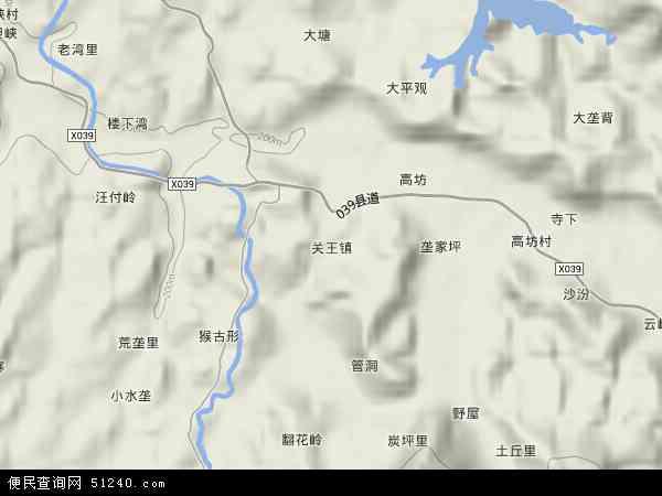 中国湖南省郴州市安仁县关王镇地图(卫星地图)