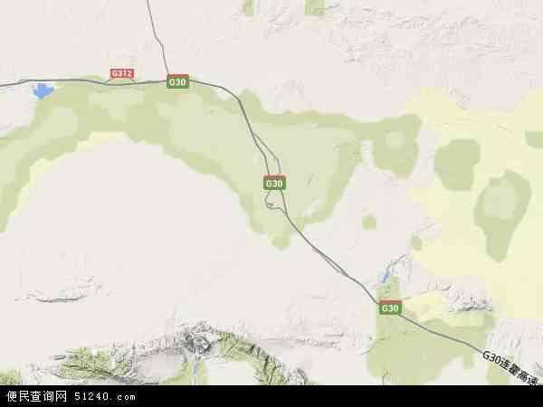 中国甘肃省酒泉市玉门市甘肃矿区地图(卫星地图)