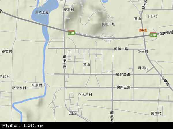 中国山东省滨州市邹平县黄山地图(卫星地图)