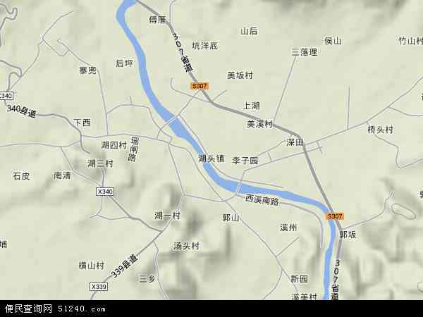 中国福建省泉州市安溪县湖头镇地图(卫星地图) (600x450)