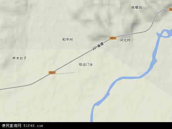 中国吉林省延边朝鲜族自治州珲春市哈达门乡地图