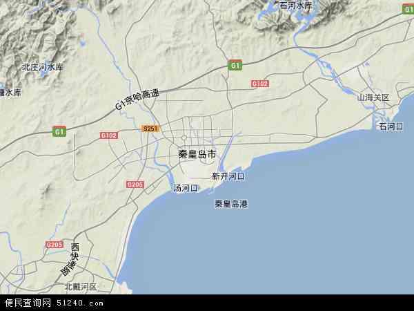 中国河北省秦皇岛市海港区地图(卫星地图)