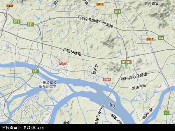 黄埔区地图 黄埔区卫星地图 黄埔区高清航拍地图 黄埔区高清卫星地图