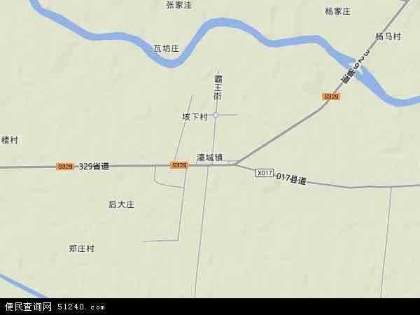 中国安徽省蚌埠市固镇县濠城镇地图(卫星地图)