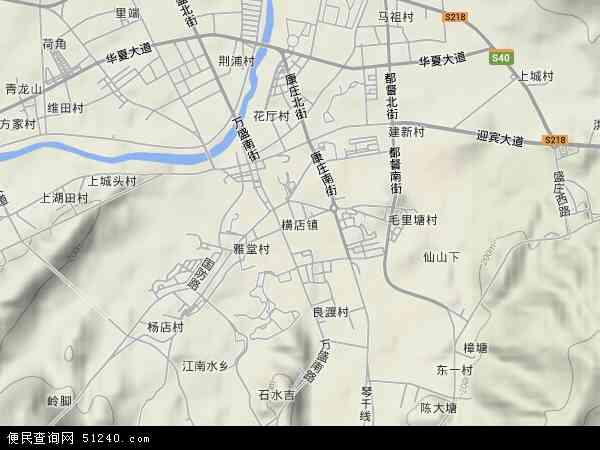 中国浙江省金华市东阳市横店镇地图(卫星地图)