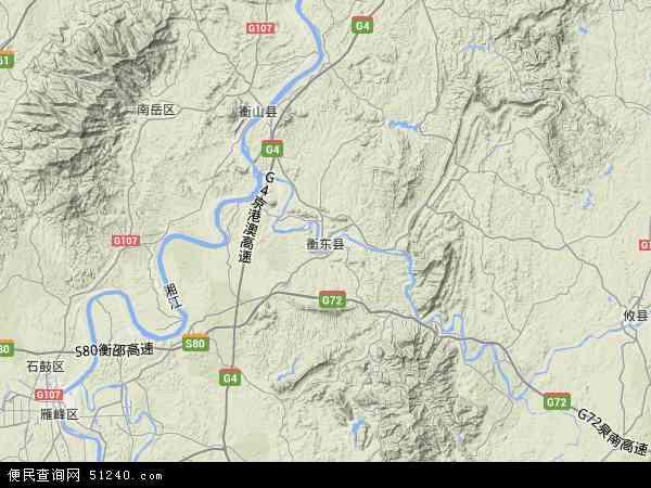 衡东县高清卫星地图 衡东县2016年卫星地图 中国湖南省衡阳市衡东