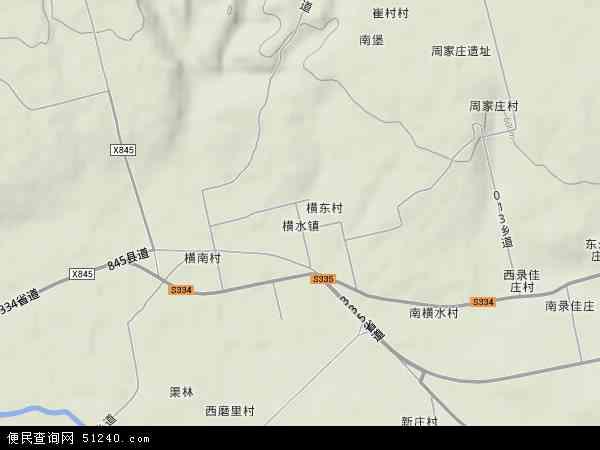 中国山西省运城市绛县横水镇地图(卫星地图)