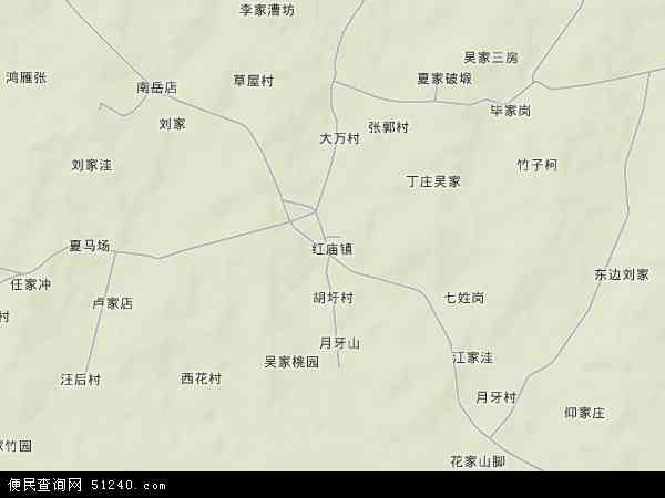 中国安徽省芜湖市无为县红庙镇地图(卫星地图)