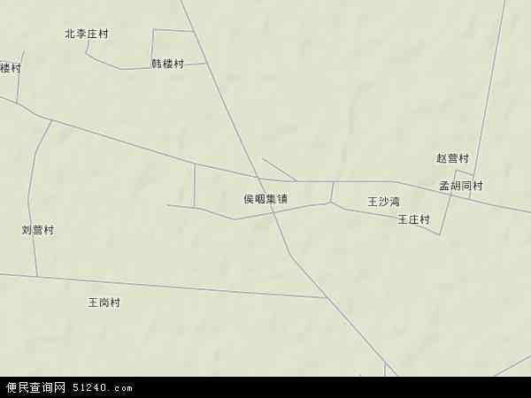 中国山东省菏泽市郓城县侯咽集镇地图(卫星地图)