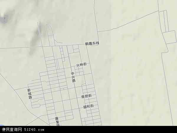 鹤北镇地图 - 鹤北镇卫星地图