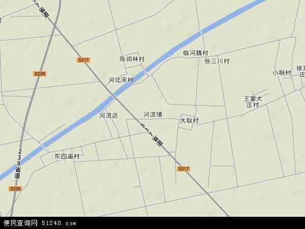 中国山东省滨州市阳信县河流镇地图(卫星地图)
