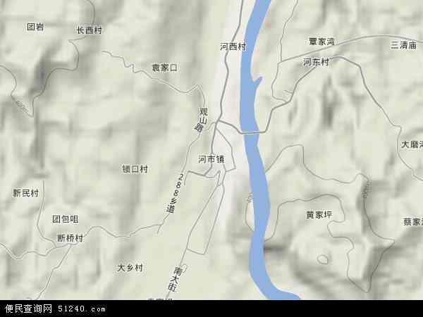 河市镇地图 - 河市镇卫星地图 - 河市镇高清航拍地图