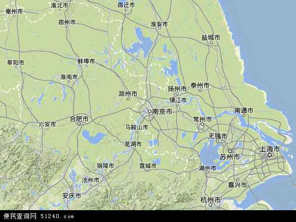江苏省地图 - 江苏省卫星地图