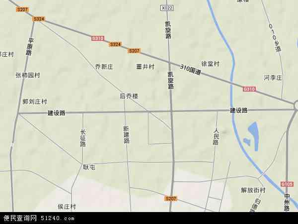 中国河南省商丘市梁园区建设地图(卫星地图)