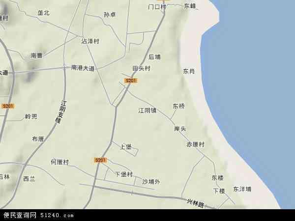江阴镇地图 - 江阴镇卫星地图