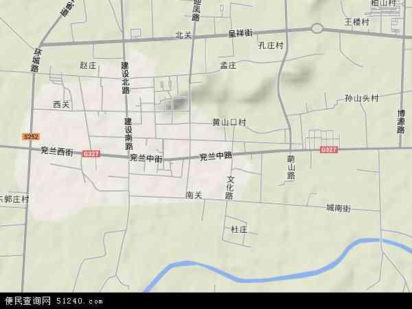 中国山东省济宁市嘉祥县嘉祥镇地图(卫星地图)