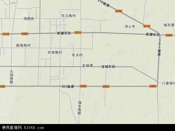 中国山西省朔州市应县金城镇地图(卫星地图) 600