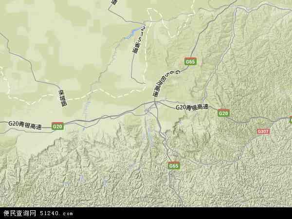 中国陕西省榆林市靖边县地图(卫星地图)