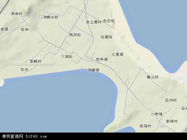 中国福建省泉州市惠安县净峰镇地图(卫星地图)