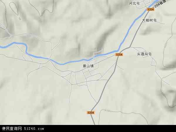 中国吉林省白山市靖宇县景山镇地图(卫星地图)