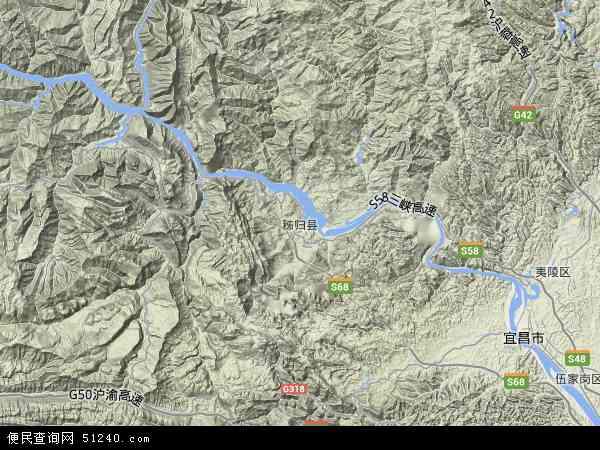 中国湖北省宜昌市秭归县九畹溪镇地图(卫星地图)