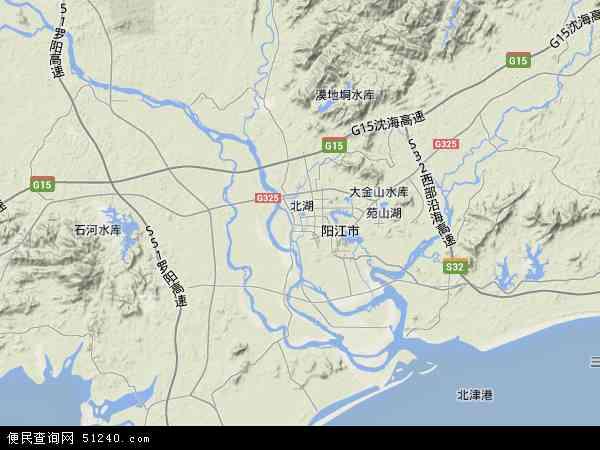 江城区地图 江城区卫星地图 江城区高清航拍地图 江城区高清卫星地图
