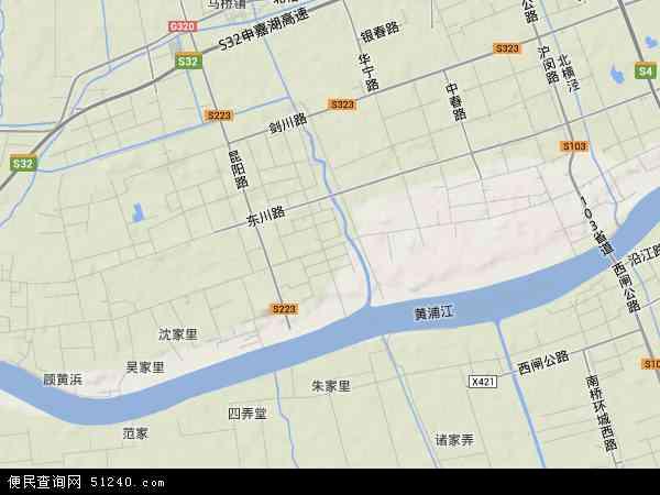中国上海市闵行区江川路地图(卫星地图)