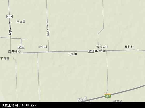 中国山西省运城市永济市开张镇地图(卫星地图)