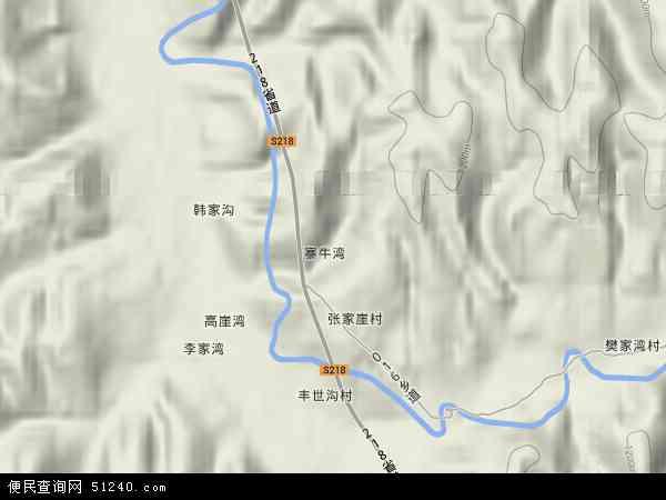 中国山西省吕梁市兴县康宁镇地图(卫星地图)