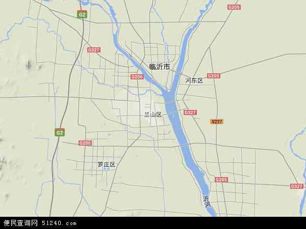 中国山东省临沂市兰山区地图(卫星地图)