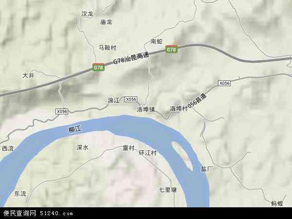 中国广西壮族自治区柳州市鱼峰区洛埠镇地图