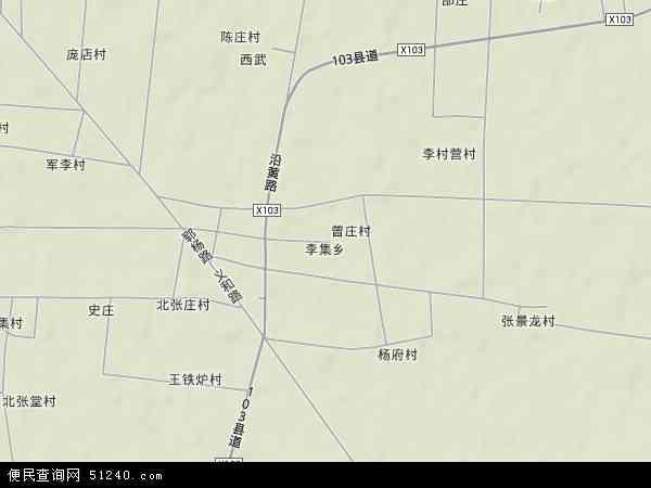 中国山东省菏泽市郓城县李集乡地图(卫星地图)图片