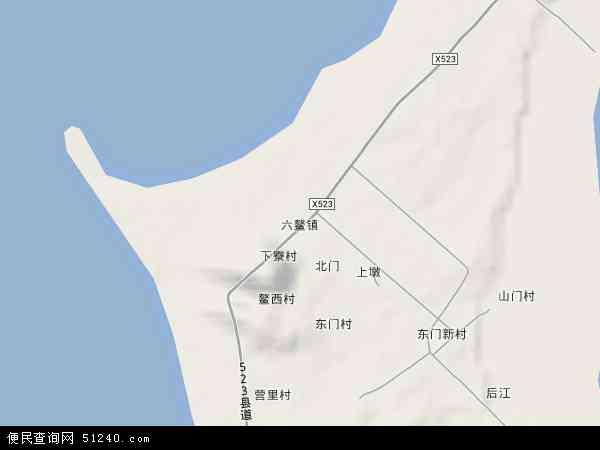 福建省漳州市漳浦县六鳌镇地图(卫星地图)