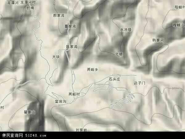 中国湖北省襄阳市保康县两峪乡地图(卫星地图)