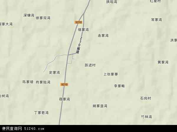 中国湖北省随州市广水市骆店乡地图(卫星地图)图片