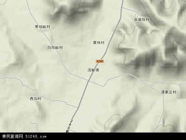 中国山东省临沂市平邑县流峪镇地图(卫星地图)