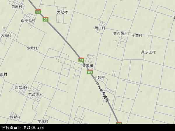 中国山东省德州市禹城市梁家镇地图(卫星地图)