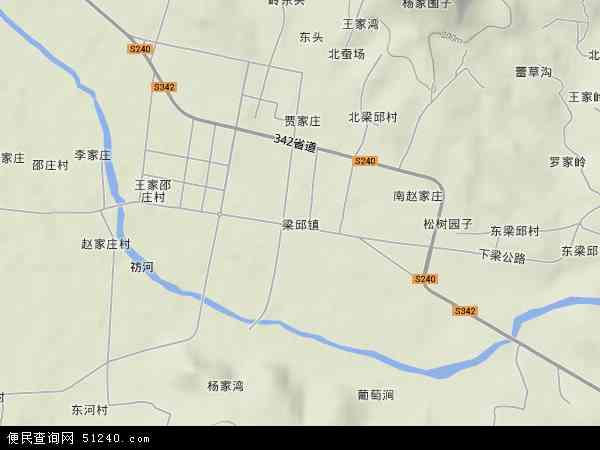 中国山东省临沂市费县梁邱镇地图(卫星地图)