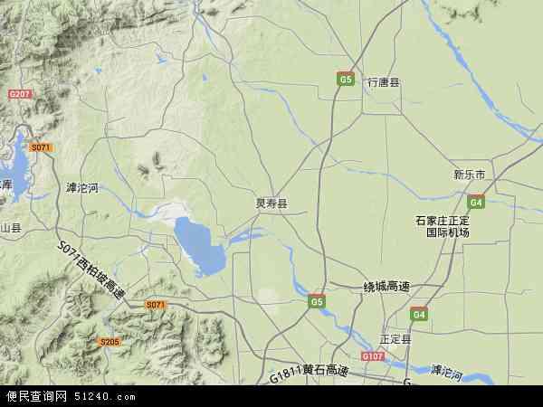 灵寿县地图 - 灵寿县卫星地图