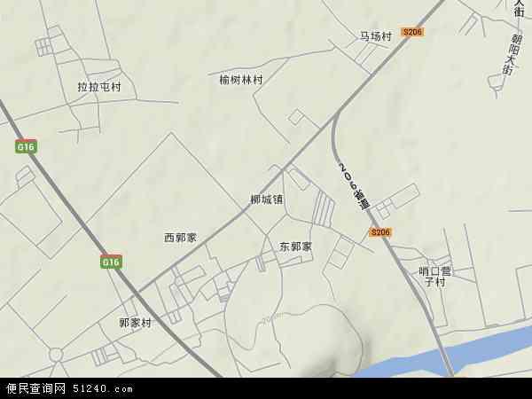 中国辽宁省朝阳市朝阳县柳城镇地图(卫星地图)