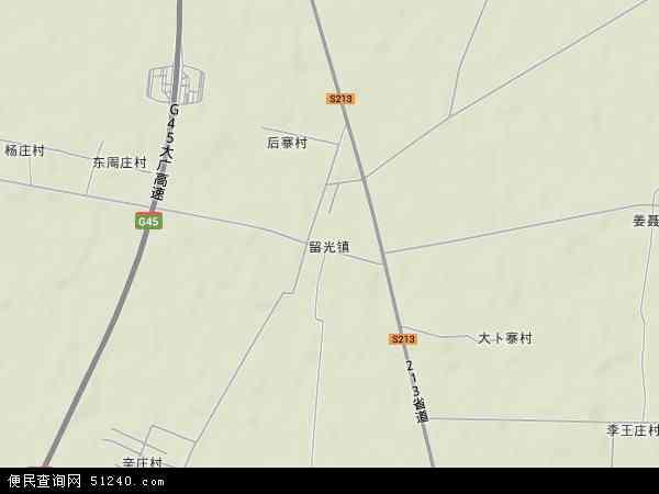 中国河南省新乡市封丘县留光镇地图(卫星地图)