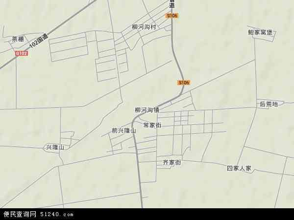 柳河云岭风景区地图