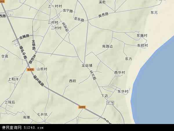 中国福建省福州市福清市龙田镇地图(卫星地图)