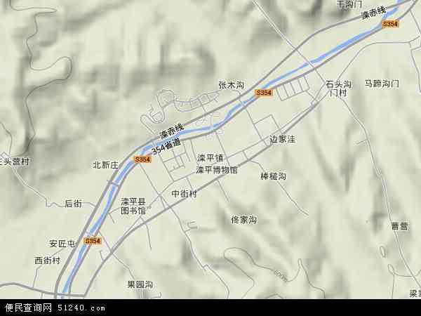 中国河北省承德市滦平县滦平镇地图(卫星地图)