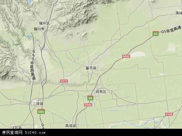 中国陕西省渭南市富平县刘集镇地图(卫星地图)图片