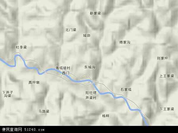 中国陕西省榆林市府谷县木瓜镇地图(卫星地图)
