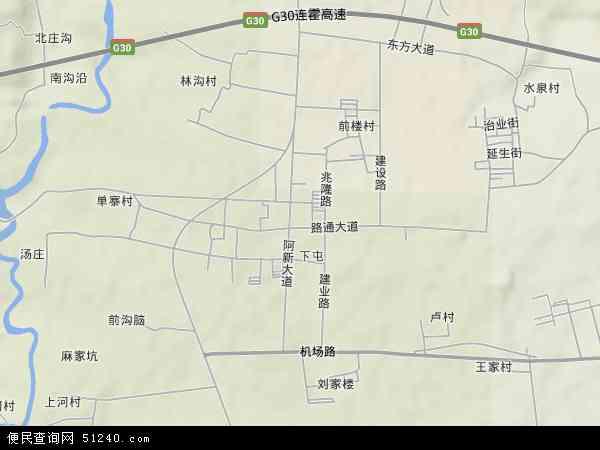中国河南省洛阳市孟津县麻屯镇地图(卫星地图)