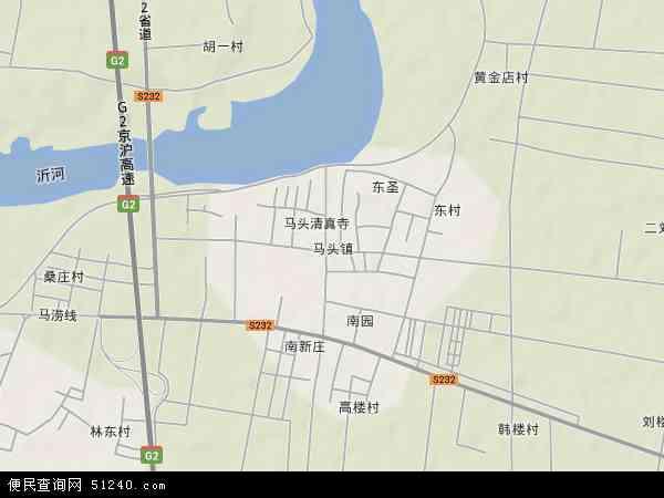 中国山东省临沂市郯城县马头镇地图(卫星地图)